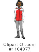 Royalty-Free (RF) Winter Apparel Clipart Illustration #1104977