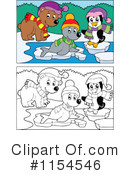 Royalty-Free (RF) Winter Clipart Illustration #1154546