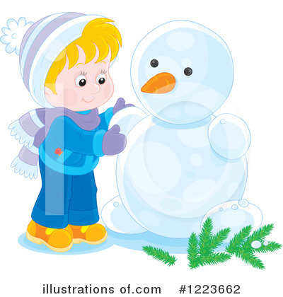 Snowman Clipart #1223662 by Alex Bannykh