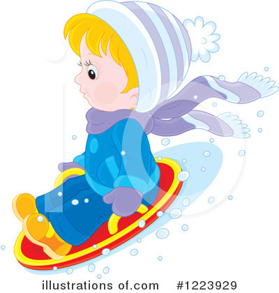 Snow Tubing Clipart #1223929 by Alex Bannykh