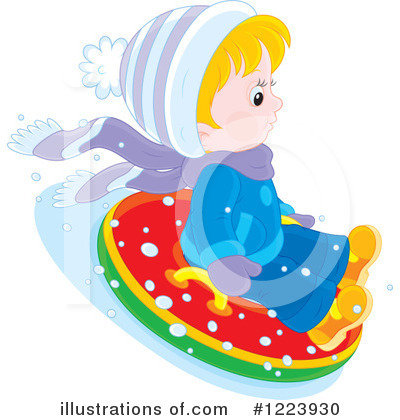 Snow Tubing Clipart #1223930 by Alex Bannykh