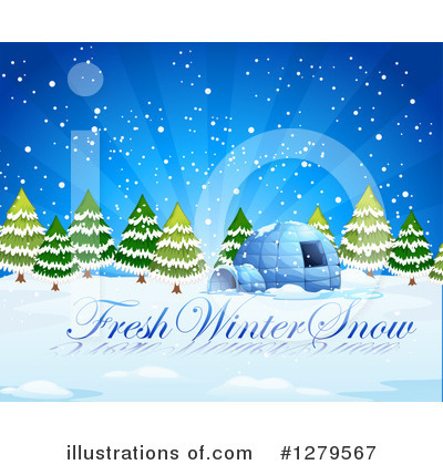 Igloo Clipart #1279567 by Graphics RF
