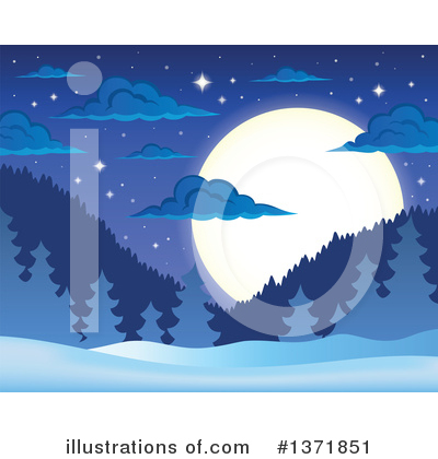 Moon Clipart #1371851 by visekart