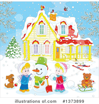 Snowman Clipart #1373899 by Alex Bannykh