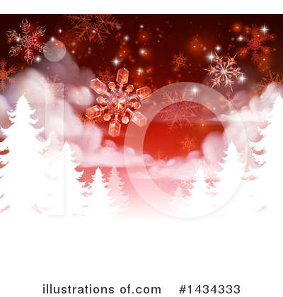Christmas Background Clipart #1434333 by AtStockIllustration