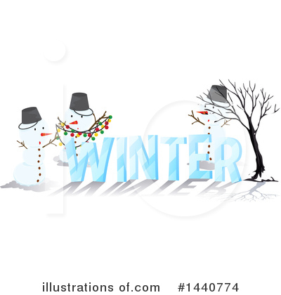 Snowman Clipart #1440774 by Graphics RF