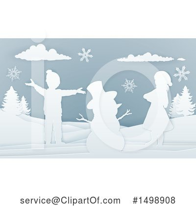 Snowman Clipart #1498908 by AtStockIllustration