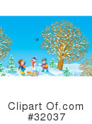 Winter Clipart #32037 by Alex Bannykh