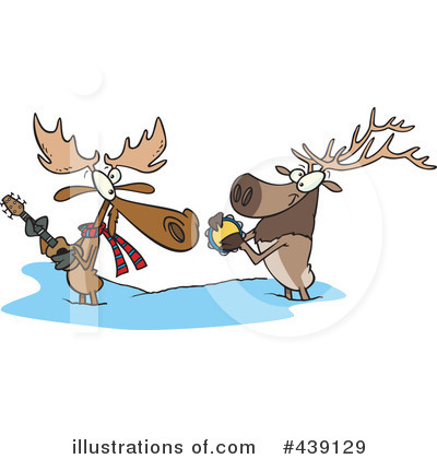 Moose Clipart #439129 by toonaday