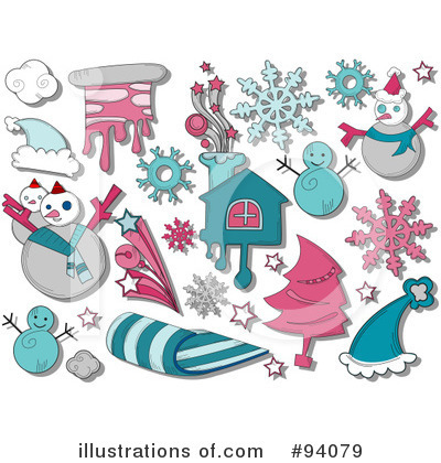 Snowflakes Clipart #94079 by BNP Design Studio