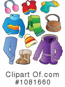 Royalty-Free (RF) Winter Clothes Clipart Illustration #1081660
