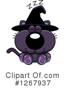 Witch Cat Clipart #1267937 by Cory Thoman