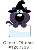 Witch Cat Clipart #1267939 by Cory Thoman