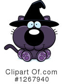 Witch Cat Clipart #1267940 by Cory Thoman
