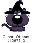 Witch Cat Clipart #1267942 by Cory Thoman