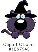 Witch Cat Clipart #1267943 by Cory Thoman
