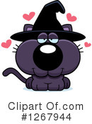 Witch Cat Clipart #1267944 by Cory Thoman