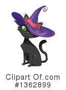 Royalty-Free (RF) Witch Cat Clipart Illustration #1362899