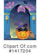 Witch Cat Clipart #1417204 by visekart