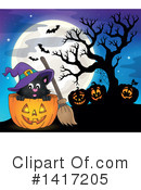 Witch Cat Clipart #1417205 by visekart