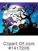 Witch Cat Clipart #1417206 by visekart