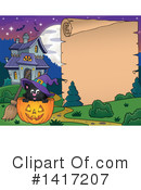 Witch Cat Clipart #1417207 by visekart