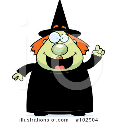 Witch Clipart #102904 by Cory Thoman