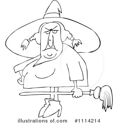 Royalty-Free (RF) Witch Clipart Illustration by djart - Stock Sample #1114214