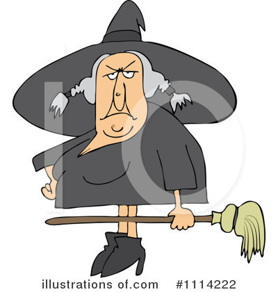 Royalty-Free (RF) Witch Clipart Illustration by djart - Stock Sample #1114222