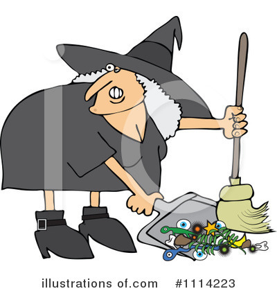 Royalty-Free (RF) Witch Clipart Illustration by djart - Stock Sample #1114223