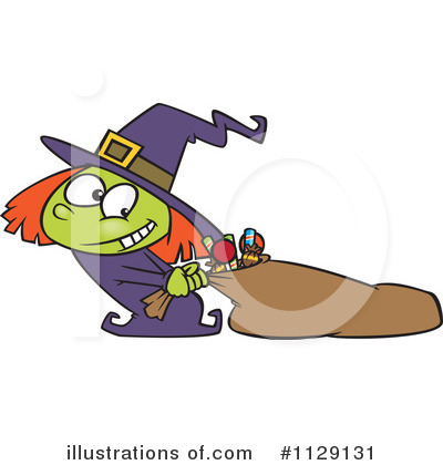 Royalty-Free (RF) Witch Clipart Illustration by toonaday - Stock Sample #1129131