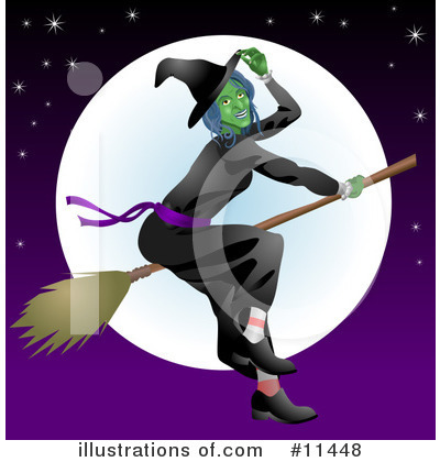 Witch Clipart #11448 by AtStockIllustration