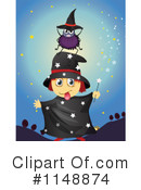 Royalty-Free (RF) Witch Clipart Illustration #1148874