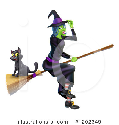 Witch Clipart #1202345 by AtStockIllustration