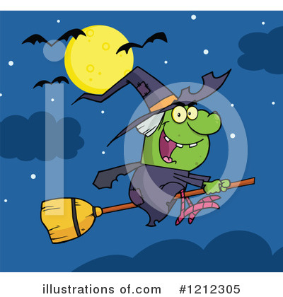 Witch Clipart #1212305 by Hit Toon