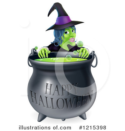 Royalty-Free (RF) Witch Clipart Illustration by AtStockIllustration - Stock Sample #1215398