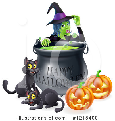 Royalty-Free (RF) Witch Clipart Illustration by AtStockIllustration - Stock Sample #1215400