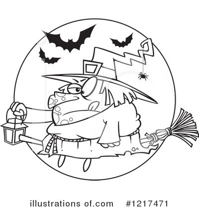 Witch Clipart #1217471 by toonaday
