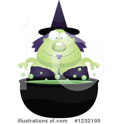 Witch Clipart #1232190 by Cory Thoman