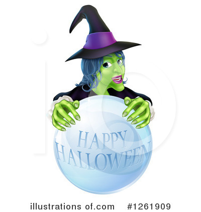 Witch Clipart #1261909 by AtStockIllustration