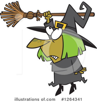 Witch Clipart #1264341 by toonaday
