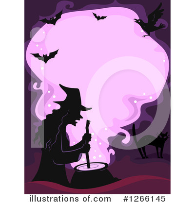 Witch Cat Clipart #1266145 by BNP Design Studio