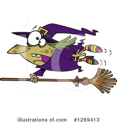 Witch Clipart #1269413 by toonaday