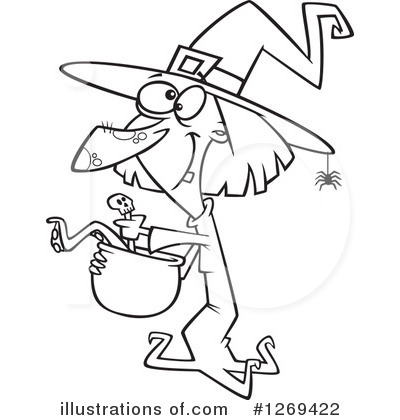 Witch Clipart #1269422 by toonaday