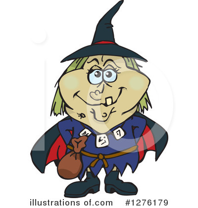 Witch Clipart #1276179 by Dennis Holmes Designs