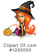 Witch Clipart #1290000 by merlinul