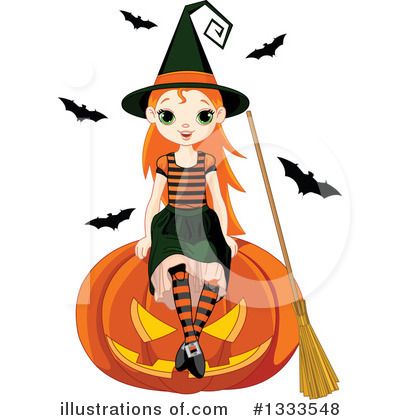 Royalty-Free (RF) Witch Clipart Illustration by Pushkin - Stock Sample #1333548