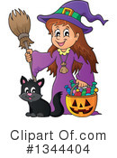 Royalty-Free (RF) Witch Clipart Illustration #1344404
