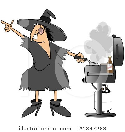 Royalty-Free (RF) Witch Clipart Illustration by djart - Stock Sample #1347288