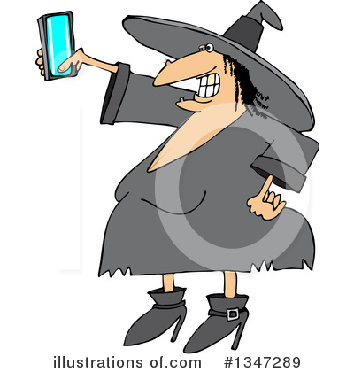 Royalty-Free (RF) Witch Clipart Illustration by djart - Stock Sample #1347289
